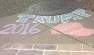 Trump-chalk